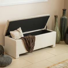 Home Loft Concept Weyden Upholstered Storage Bedroom Bench | AllModern
