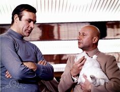 James Bond (Sean Connery) and Ernst Stavro Blofeld (Donald Pleasence) in You Only Live Twice Sean Connery James Bond, Donald Pleasence, George Lazenby, Villain Costumes, Timothy Dalton, James Bond Movies, Bond Girls, Movie Releases, Picture Photo