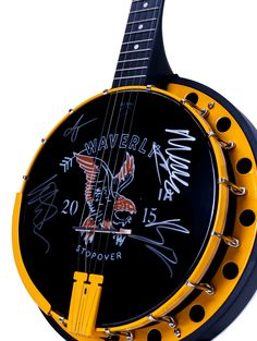 Gentlemen of the Road Waverly Iowa Goodtime Banjo signed by Mumford & Sons
