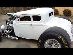 "1000+ HORSEPOWER * Pro Street Blown 31 Ford Model A ""COUPEZILLA"" Hot Ratrod, OPEN HEADERS video #2"