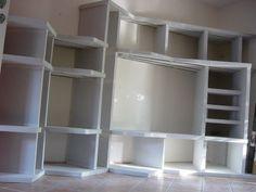 Bibliothèque en Siporex -  - Vous avez construit vous-même une bibliothèque