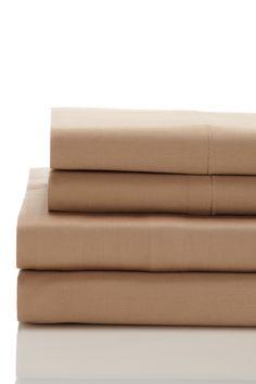 Bedford Cottage 600 Thread Count Cotton Sheet Set - Cafe