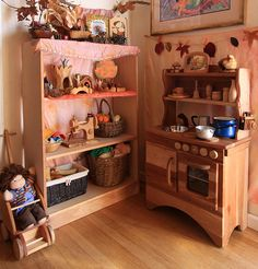 Be still my heart. We try to keep the toys minimal around here, but I would completely fill our basement with this. The play kitchen! The play sewing machine! It all makes me squeal!