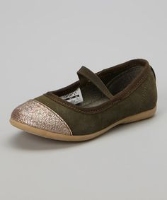 Love this Olive Two-Tone Miranda Flat by Carter's on #zulily! #zulilyfinds