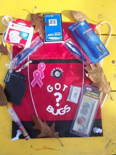 "A clever ""starter"" kit- GOT BUGS Red Geocaching KitAccesories Bag Travel by cindysmith1013, $39.99"