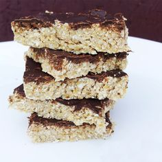 Dark Chocolate Coconut Oat Bars Recipe photo
