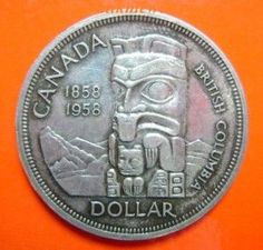 1958 Canadian silver dollar Silver Dollar Coin, Gold And Silver Coins, Silver Bars, Bullion Coins, Silver Bullion, Canadian Coins, Canadian Dollar, Foreign Coins, Coin Display