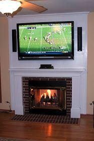 on how to mount your tv over the fireplace and hide the wires easily ...