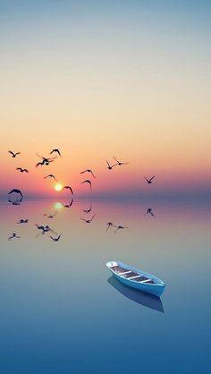 Wallpaper 🇺🇸 By Artist Unknown🇺🇸. Boat Wallpaper, Sunset Wallpaper, Landscape Wallpaper, Scenery Wallpaper, Colorful Wallpaper, Galaxy Wallpaper, Wallpaper Backgrounds, Wallpaper Awesome, Mobile Wallpaper
