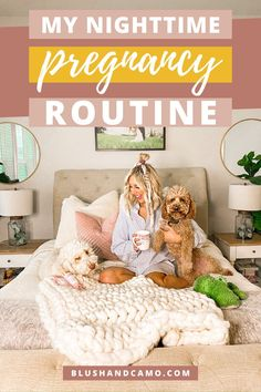 I developed a nighttime pregnancy routine to help me relax and unwind at the end of each day and I'm sharing all the details so you can make your pregnancy go a little easier and less stressful, too. #pregnancytips #pregnant #nighttimeroutine #pregnancyroutine #pregnancystress