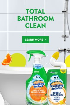 Scrubby's so happy he could pop! Because his Full Bathroom Collection cleans from tub to toilet! Homemade Cleaning Products, Household Cleaning Tips, Household Cleaners, Cleaning Recipes, House Cleaning Tips, Deep Cleaning, Spring Cleaning, Cleaning Hacks, Cleaning Supplies