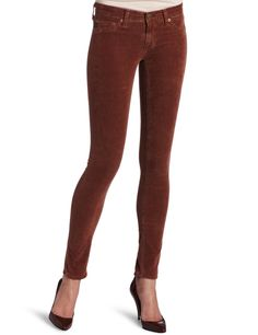 AG Corduroy Jegging in Sulfur Cognac (almost orange)