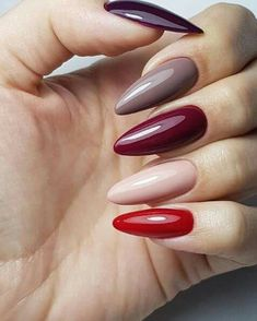 A manicure is a cosmetic elegance therapy for the finger nails and hands. A manicure could deal with just the hands, just the nails, or Matte Nails, Red Nails, Hair And Nails, Acrylic Nails, Coffin Nails, Fall Gel Nails, Winter Nails, Purple Glitter Nails, Glitter Lips