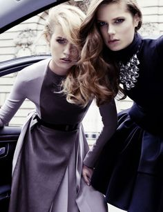 Publication: Dior Magazine #1 Fall/Winter 2012 Models: Julia Frauche and Caroline Brasch Nielsen Photographers: Claudia Knoepfel and Stefan Indlekofer
