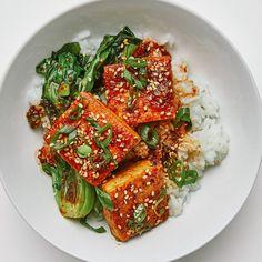 Vegetarian Recipes, Cooking Recipes, Healthy Recipes, Weeknight Recipes, Braised Tofu Recipe, Korean Side Dishes, Sauteed Greens, Asian Recipes, Vegan