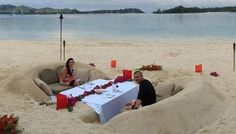 sand sculpture couch on the beach - Google Search #OnTheBeach