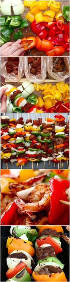 These Fajita Skewers Are So Perfect For Last-Minute Summer Grilling - Beef - Fajitas Recipes Grilling Recipes, Beef Recipes, Cooking Recipes, Healthy Recipes, Grilling Ideas, Kebab Recipes, Bbq Ideas, Fun Recipes, Healthy Foods