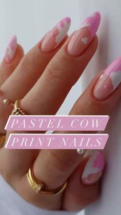 Cute Pink Nails, Pastel Nails, Cute Acrylic Nails, Nails Now, Gel Nails, Toenails, Acylic Nails, Fire Nails, Minimalist Nails