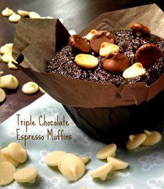 Triple Chocolate Espresso Muffins