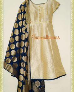 Tanvasthrams designer anarkali suit with banaras dupatta  #banarasdupatta #banaras #partywearanarkali #anarkali #designerdress #designerchudidaar #designeranarkali #banarasanarkali #banarasisilk #designersalwarsuit #banarasi