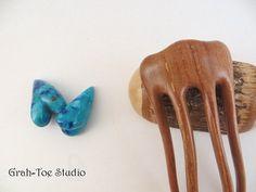 Apple Wood Micro Hair Fork Hair Forks Phoenix by grahtoestudio