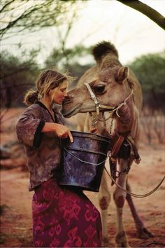 Photographs capture Robyn Davidson's 1700 mile trek across Australia