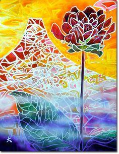 新月紫紺大作の玄関に飾る絵 タイトル「君を忘れない花」