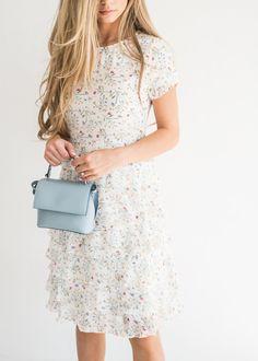 Meadow Bloom Ruffle Dress, bridesmaid dress, modest dress, modest fashion, jessakae, chiffon dress, classy dress, southern style