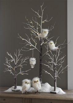 Owl w Pine Cone 31 inch Floral Spray New RAZ fo F3206721 Christmas Decoration | eBay