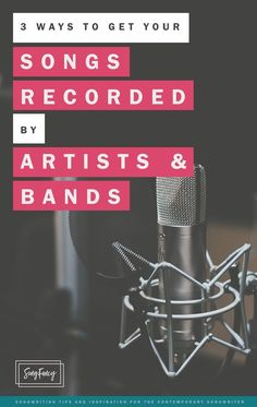 Three simple ways to get your songs recorded by singers and bands. Read on | http://SongFancy.com