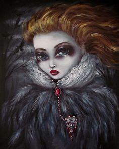 SHE KEPT Their SECRET big eye gothic raven queen by ninafriday