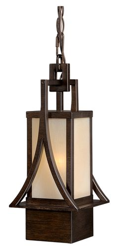 "Vaxcel T0042 Osaka Craftsman Venetian Bronze Finish 14.875"" Tall Exterior Mini Ceiling Light Pendant - VXL-T0042"