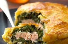 A simple Salmon and spinach pie recipe for you to cook a great meal for family or friends. Buy the ingredients for our Salmon and spinach pie recipe from Tesco today.