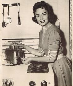 1950s housewife inspiration - cooking husband's dinner - my life in one image - though I'd serve more than toast
