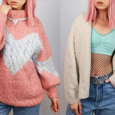 Super warm and cozy vintage knitwear in all colours! My absolute favorites come in fondant shades 🐑🌸🍨