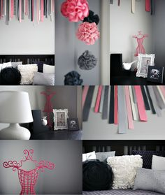 such a cute room! @Liz Mester Mester this is what i was talking about for you, i love the grey and pink