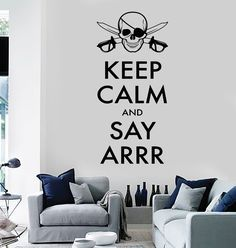 Vinyl Wall Decal Corsair Quote Pirate Skull Teen Room Decor Stickers (294ig)