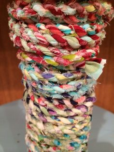 Handmade scrap fabric twine ~ Amy Butler fabric scraps