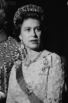 Queen Elizabeth II at the Royal Opera of Versailles.