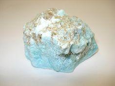 "Amazon.com: #242 (1pc) Raw Larimar ""Dolphin Stone"" Large Extremely Rare Blue Pectolite 100% Natural Rough Healing Crystal Gemstone Specimen: Toys & Games"