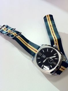 TAG - Heuer Monza automatic watch with NATO strap from Ralph Lauren's Rugby