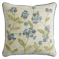 Spring Meadow Ribbon Floral Pillow
