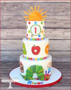 The Very Hungry Caterpillar Cake …