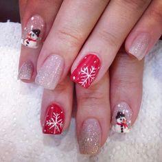 Christmas nails Christams Nails, Cute Christmas Nails, Christmas Nail Designs, Xmas, Revel Nail Dip Powder, Powder Nails, Dip Manicure, Toe Nail Designs, Nails Design