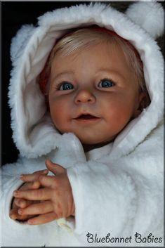 "❀Bluebonnet Babies❀ REBORN Blonde BABY Linda Scherer ""Lisa""NOW BIG Girl ""Romie"""