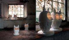 TI VEDO Wall and table lamp. Structure in white ceramic. www.karmanitalia.it www.rclicht.nl