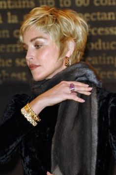 Short Hairstyles For Women Over 50 | Sharon Stone's Short Layers | Style Goes Strong