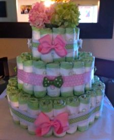 Diaper cake #3 that I made for a friend.