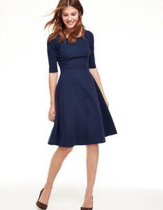 Alice Ponte Dress (Navy)