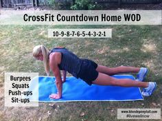CrossFit Countdown Home WOD. #getafterit